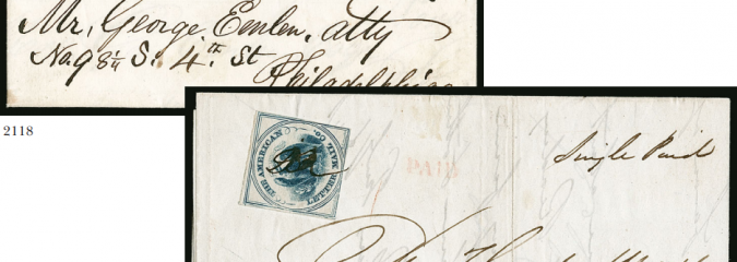 U.S.P.O., Philadelphia Pa., 1c Blue (7LB12) and American Letter Mail